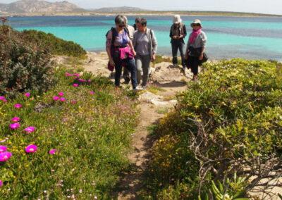 photo de groupe face à l'Asinara