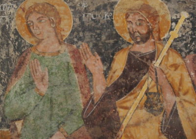 fresque de la chapelle du chateau Malaspina de Bosa