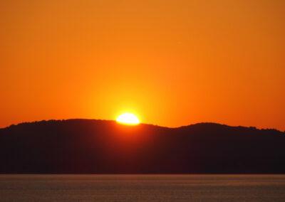 coucher de soleil sur le Monte Timidone