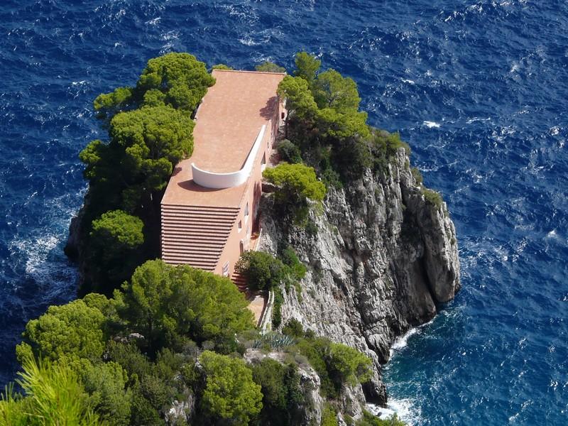 Capri et la villa de Malaparte
