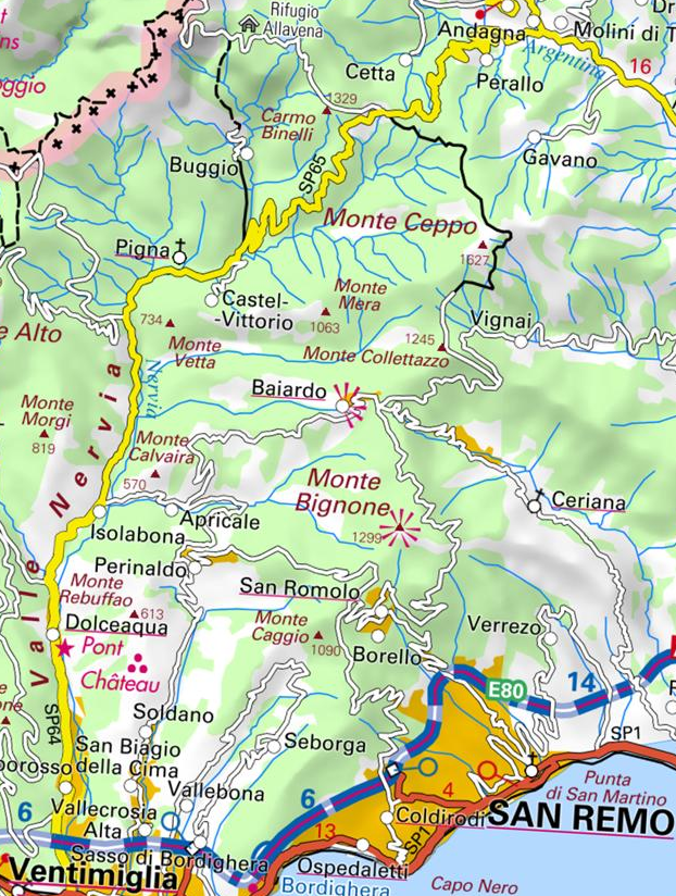 la vallée de la Nervia