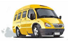 minibus jaune