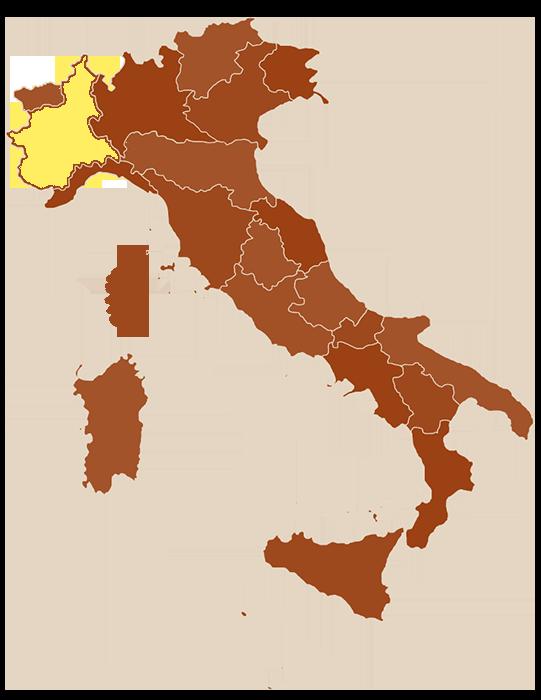 carte du Piémont