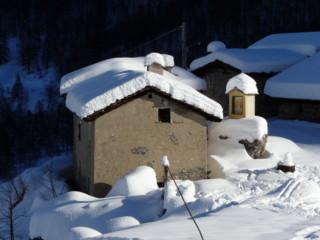 la vallée Maira en hiver